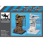 Medieval gate base