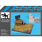 Africa road with sign base