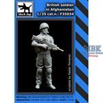British army soldier in Afganistan