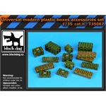 Universal modern plastic boxes accessories set