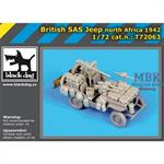 British SAS jeep  North Africa 1942 Conversion Set