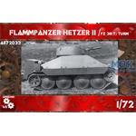 Flammpanzer Hetzer II / Pz.38(t) Turm