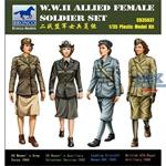WW2 Alllied Female Soldier Figure Set