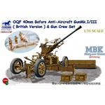 British 40mm Bofors AA Gun with Crew