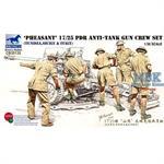 Brit. 17/25pdr Anti-tank gun crew - Tunesia/Itali