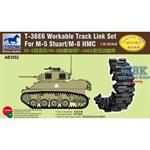 T-36E6 workable track link set for M-5/M-8 Stuart
