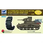 T-16 workable track link set for M-5/M-8 Stuart