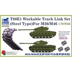 T-80E1 (Steel Type) For M26/M46 Workable Tracks