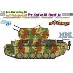 2cm Flakvierling38 auf Pz.III Ausf.M ~ Cyber Hobby