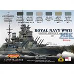 Royal Navy WWII early war Set 1, Farbset 6 x 22ml