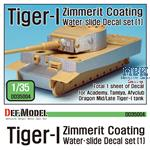 Tiger-I Mid/Late Zimmerit Decal set #1