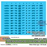 WWII US wooden ration box letter decal set