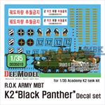 ROK MBT K2 Black Panther decal set