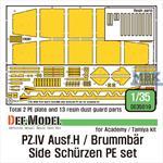 Pz.IV Ausf.H /Brummbar Side Schurzen PE set