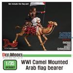 WWI Camel mounted Arab flag bearer
