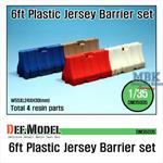 Modern 6ft Plastic Jersey Barrier set
