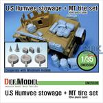 US Humvee Stowage + MT tire set