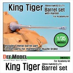 King Tiger 88mm Metal Barrel with mantlet