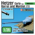 Hetzer Early version Barrel and Mantlet Set (1)