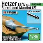 Hetzer Early version Barrel and Mantlet Set (2)