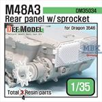 M48A3 Rear Panel set w/ sprocket part