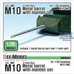 U.S. M10 GMC Barrel and Mantlet Set