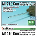 US M4 Sherman M1A1C Gun metal barrel set