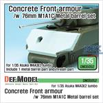 US M4A3E2 Concrete Front armour /w M1A1C barrel
