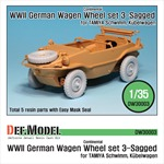 WW2 German Schwimmwagen Continental Wheel set 3