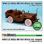 Willys MB 4x4 Truck Wheel set