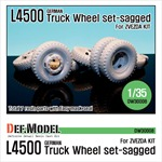 WW2 German L4500 Truck Wheel set