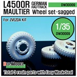 WW2 German L4500 R Maultier Wheel set
