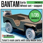 WW2 UK Bantam Early Wheel set