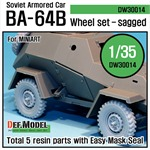 WW2 Soviet BA-64B Armored Car Wheel set