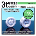 WW2 German 3t Cargo Truck Wheel set