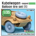 WWII Kübelwagen Balloon Tire set (1)- sagged