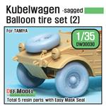 WWII Kübelwagen Balloon Tire set (2)- sagged