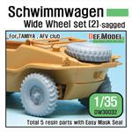 WWII Schwimmwagen Wide Wheel set (2) sagged