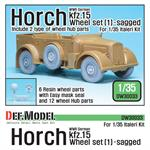 WW2 German Horch Kfz.15 Wheel set 1