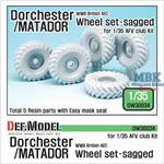 WW2 British AEC Dorchester / Matador Wheel set
