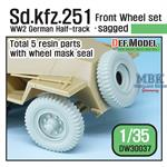 Sd.Kfz.251 Half-Track Sagged Front Wheel set