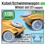 WWII Kubel/Schwimmwagen Wheel set (2)