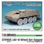 Stryker/LAV-III Mich. XML Sagged Wheel set