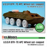 BTR-70 APC Sagged Wheel set