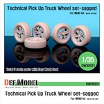 Technical Pick up Truck Sagged wheel set