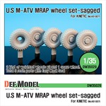 U.S M-ATV Sagged wheel set
