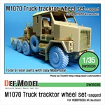 M1070 Truck Tractor Sagged wheel set