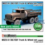 M923A1 BIG FOOT Truck Mich. XL Sagged Wheel set