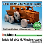 Buffalo 6x6 MPCV Mich. XZL Sagged Wheel set