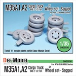 U.S M35 Cargo truck GY sagged wheel set